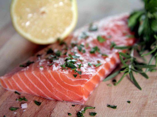 Salmon Meat with Lemon & Herbs